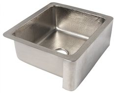 The ECOSINKS Apron Front Dual 25 in. x 22 in. x 9 in. Petit Single Bowl Farmhouse Kitchen Sink in Hammered Nickel is luxurious and innovative. It is an appropriate choice for your kitchen decor. Small Kitchen Sink, Small Sink, Farmhouse Sink Kitchen, Kitchen Redo, Kitchen Remodel, Kitchen Sinks, Kitchen Ideas, Thompson Traders, Farmers Sink