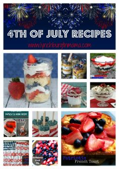 all american 4th july menu
