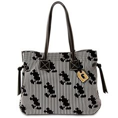 Disney Dooney and Bourke Bag - Mickey Mouse Striped Victoria