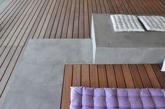 Sichtbeton und Holzdeck  #terrasse #terrassengestaltung #holz #wood #concrete