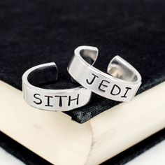 Jedi and Sith Ring Set - Star Wars - Best Friends - Couples Ring Set