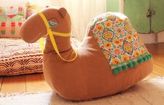 This camel is so so so awesome. Actually looks like you could make one - with a soft tan blanket?