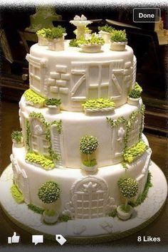 Garden wedding cake!