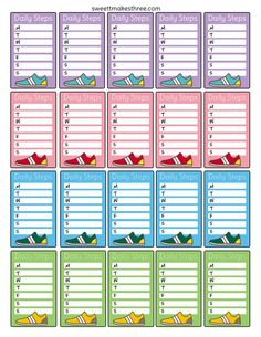 Free planner stickers to help you keep track of your daily steps. Just print and cut!