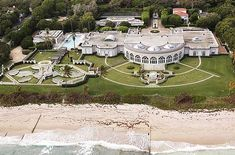 Maison de L'Amitie owned by Donald Trump -   This 62,000 sq. ft. Palm Beach mansion has an oceanfront view and is built on a total of 6.5 acres. The house has 17 bedrooms, 16 bathrooms and 8 half baths.