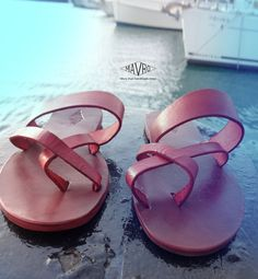 Double stripe X Sandals,Handmade Leather Sandals,Red Sandals,Summer shoes