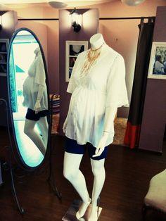 shorts piquet + camisa manga renda = cool look verão ´15