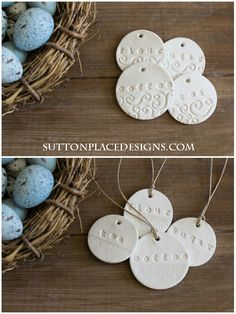 Handmade Clay Tags from suttonplacedesigns.com | Flour, Sugar, Coffee, Tea tie-ons