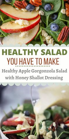 Easy Clean Eating Recipes, Easy Dinner Recipes, Healthy Salad Recipes, Healthy Foods, Apple Walnut Salad, Dinner Salads, Easy Salads, Plant Based Recipes, Quick Meals