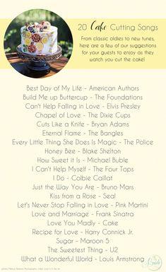Top 20 Cake Cutting Songs Maximum Music Toronto DJ Services - Best Wedding Cake Songs