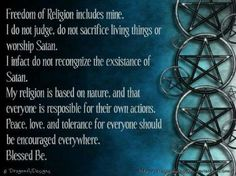 I need to carry this around and hand it out to those who do not understand Pagans and Wiccans.