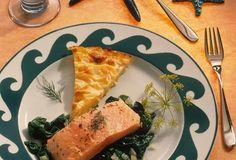 Lachsfilet auf Blattspinat mit Kartoffelgratin » Einfach Gut Essen » Rezeptideen für jeden Tag » Rezeptideen für jeden Tag