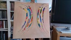 massai acrylic painting