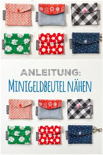DIY // Minigeldbeutel nähen - New Ideas Patchwork Quilt Patterns, Modern Quilt Patterns, Patchwork Bags, Sewing Patterns, Avercheva Ru, Sewing Tutorials, Sewing Projects, Diy Wallet, Techniques Couture