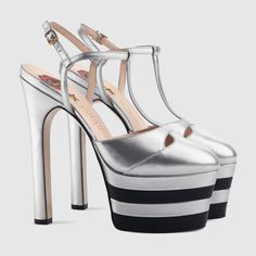 Gucci Women - Leather platform pump - 421624B8B008106
