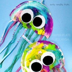 Paper Plate Jellyfish Craft Concept Of Paper Plate Octopus Crafts. Ocean Kids Crafts, Paper Plate Crafts For Kids, Summer Crafts For Kids, Toddler Crafts, Under The Sea Crafts, Under The Sea Theme, Daycare Crafts, Preschool Crafts, Sea Creatures Crafts