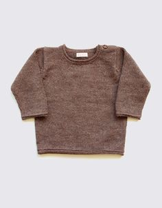 Alpaca baby sweater in natural brown - Wild Wawa Baby Alpaca, Alpaca Wool, Baby Sweaters, Wool Sweaters, Natural Brown, Pullover, Clothes, Women, Fashion