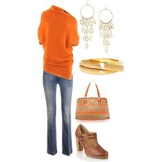 gotta have this top and shoes!  i love orange.