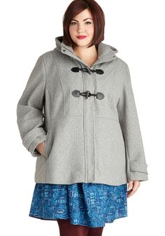 Snap a Piccadilly Coat in Plus Size, #ModCloth