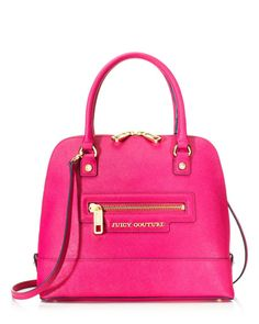 Pink leather Juicy Couture bag<3