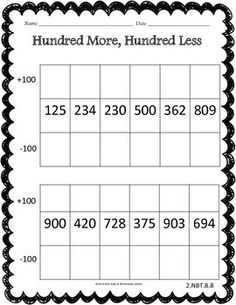 Place Value Pack - Common Core