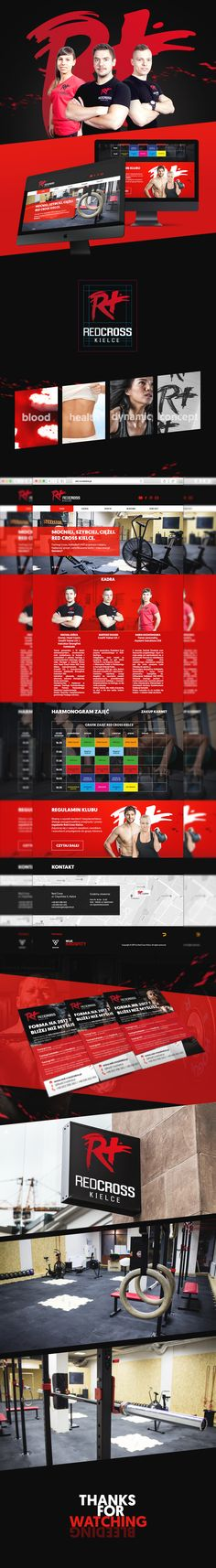 Red CrossFit branding (key visual, photos, logo, web and more)