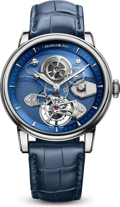 Arnold & Son TES Blue Tourbillon True to English watchmaking heritage Arnol Fossil Watches, Fine Watches, Cool Watches, Wrist Watches, Rolex Watches, Patek Philippe, Stylish Watches, Luxury Watches For Men, Cartier