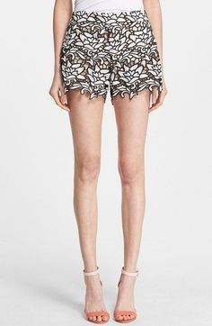 Alice + Olivia High Waist Lace Shorts available at #Nordstrom