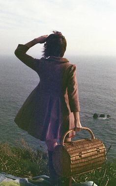 . #photography #ocean #vintage #picnic #girl