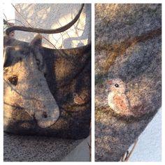 Сумка с белой лошадью   необычная авторская  сумка сумка с