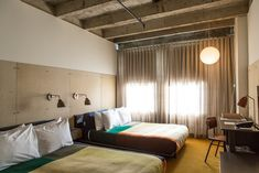The new Ace Hotel Los Angeles, by Commune (of course). Like the custom Pendleton blankets.