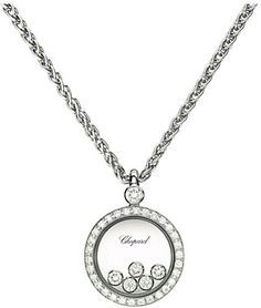 b1a126be3db Chopard Happy Diamonds Icons 18ct white-gold and diamond pendant on  shopstyle.com