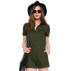 f7176eff6023 RICHCOCO New Arrival Summer 2016 Women Casual Jumpsuits Single-breasted  Playsuits Green Vacation Wear Shorts Girls vestidos