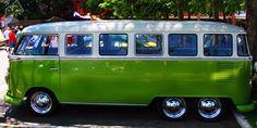 VW Volkswagen camper bus campervan kombi stretched 6wheeler