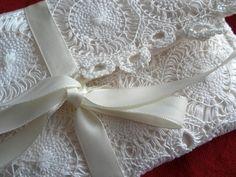 Sale! Unique Cream Lace Wedding Bag, Clutch, Bridal Bag, Bridesmaid, Prom £20.00