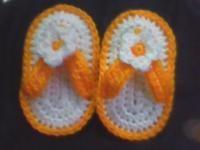 Free Crochet Baby Flip Flop Pattern