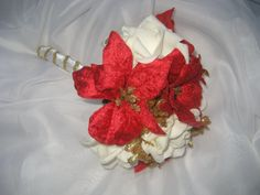 Christmas Toss Bouquet / Throw Away Bouquet / by DESIGNSBYDME, $24.95