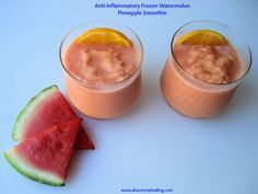 Anti-Inflammatory Frozen Watermelon Pineapple Smoothie