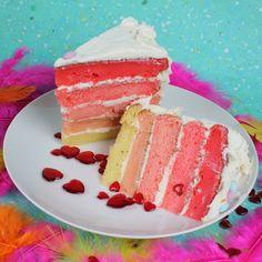 Gender Reveal Ombre Cake