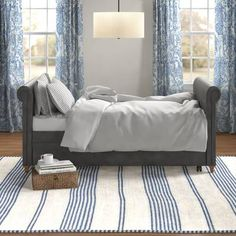 Willa Arlo Interiors Elof Twin Daybed & Reviews | Wayfair Wood Daybed, Upholstered Daybed, Sofa Bed, Metal Daybed, Full Daybed With Trundle, Trundle Mattress, Cheap Mattress, Guest Bed, Guest Room