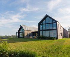 One Couple's Contemporary Coastal Retreat Celebrates Their Irish Roots - Dwell modern nb home House Extension Design, House Design, Irish Cottage, Modern Farmhouse Exterior, Building A House, Architecture Design, Irish Roots, Stone Siding, Wood Siding