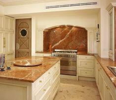 Cozinha #MarmoreVermelho Rojo Alicante