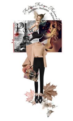 """""""I Love Paris in the Fall"""" by kari-c ❤ liked on Polyvore featuring JEM, River Island, Valentino, San Diego Hat Co., Miu Miu and fallgetaway"""