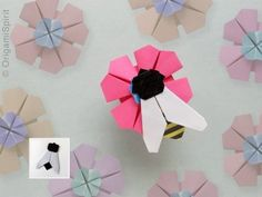 Origami And Quilling, Kids Origami, Origami And Kirigami, Origami Flowers, Origami Paper, Oragami, Easy Origami, Paper Animals, Origami Animals