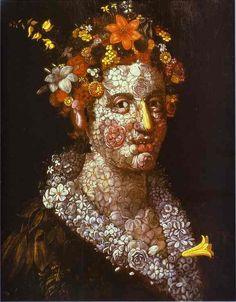 Giuseppe Arcimboldo (Milán, 1527-id., 1593) Pintor italiano.  Vivió en Praga, y en Viena trabajó para la corte de los Habsburgo. Arcimboldo fue el creador de un tipo de retrato en que el rostro estaba constituido por agrupaciones de animales, flores, frutas y toda clase de objetos. En ellos se encuentra una mezcla de sátira y alegoría, como en La primavera y El verano. Sus obras fueron vistas en su tiempo como un curioso ejemplo de pintura carente de valor artístico.