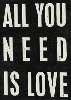 Black 'All You Need' Box Sign