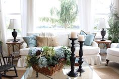 This is from Kristy Seibert blog on 10-14-13. I like the use of the Pottery Barn pillows.