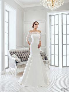 View Dress - Sans Pareil Bridal Collection: 990 - Off-the-shoulder illusion lace…