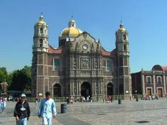 The Basilica of Guadalupe Hidalgo, Mexico City, 1531. If you look closely, it is on an angle; it's sinking into the ground. That's why they built a new one in 1979.
