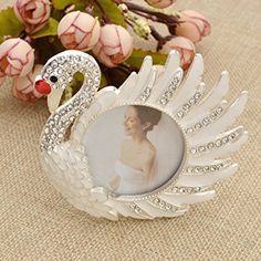 """Amazon.com - Crystal White Swan Photo Frame Metal Picture Frame Home Decor Gift 2""""x2"""" 1 Pc -"""